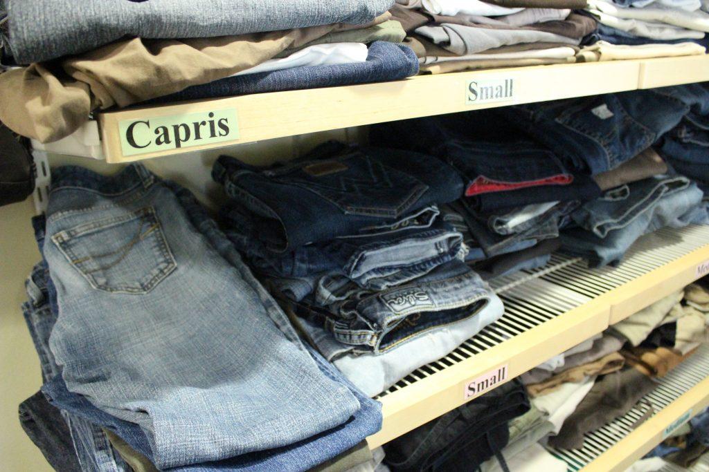 clothes closet photo jeans